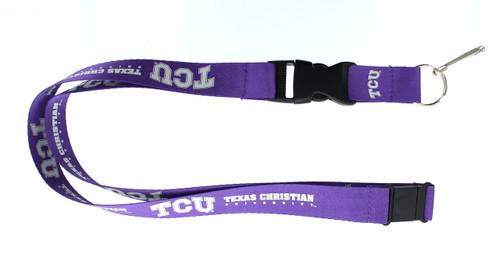 TCU Horned Frogs Lanyard Purple