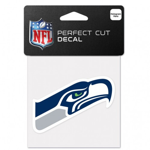 Seattle Seahawks Decal 4x4 Perfect Cut Color
