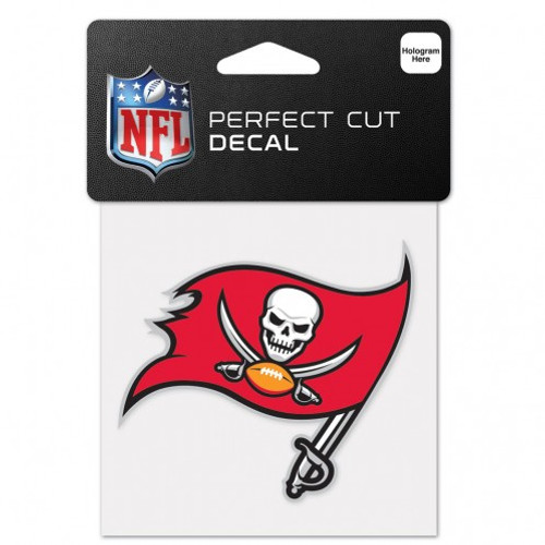 Tampa Bay Buccaneers Decal 4x4 Perfect Cut Color