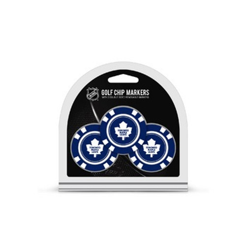 Toronto Maple Leafs Golf Chip with Marker 3 Pack - Special Order