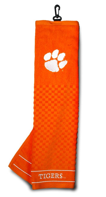 Clemson Tigers Golf Towel 16x22 Embroidered