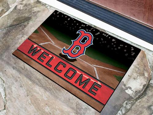 Boston Red Sox Door Mat 18x30 Welcome Crumb Rubber - Special Order
