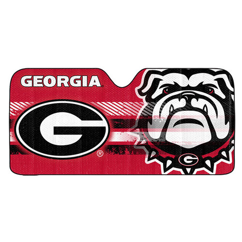 Georgia Bulldogs Auto Sun Shade 59x27