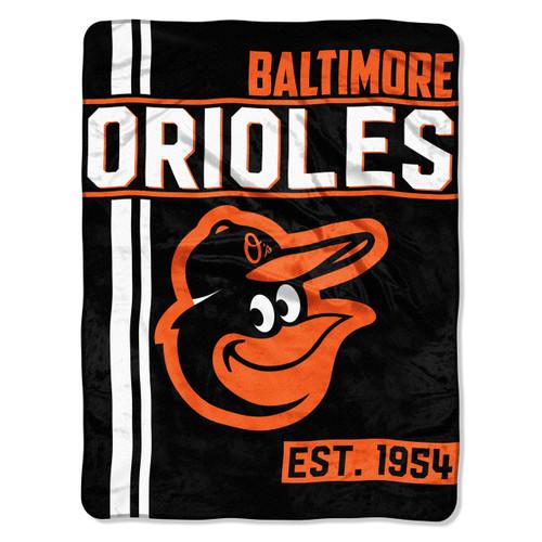 Baltimore Orioles Blanket 46x60 Micro Raschel Walk Off Design Rolled
