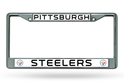 Pittsburgh Steelers License Plate Frame Chrome