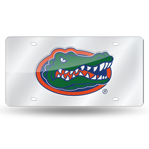 Florida Gators License Plate Laser Cut Silver