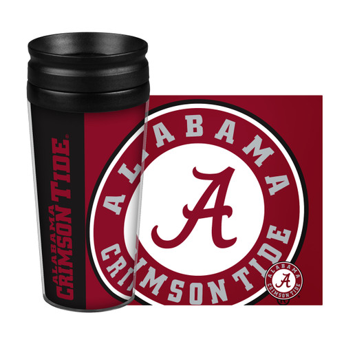 Alabama Crimson Tide Travel Mug 14oz Full Wrap Style Hype Design