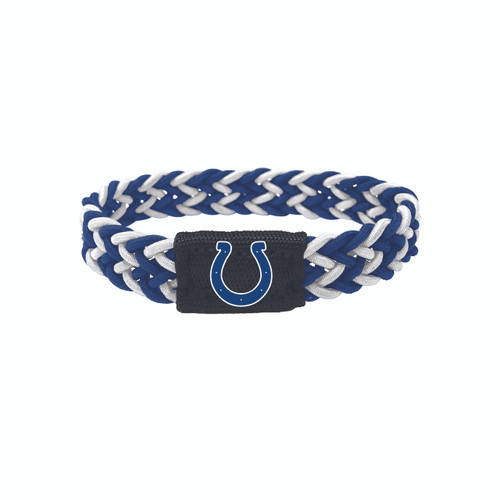 Indianapolis Colts Bracelet Braided Blue and White