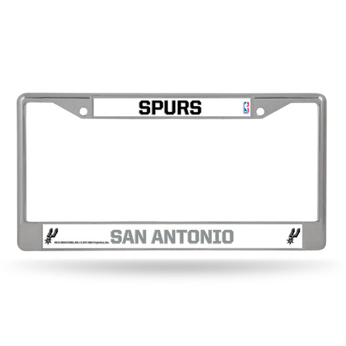 San Antonio Spurs License Plate Frame Chrome - Special Order