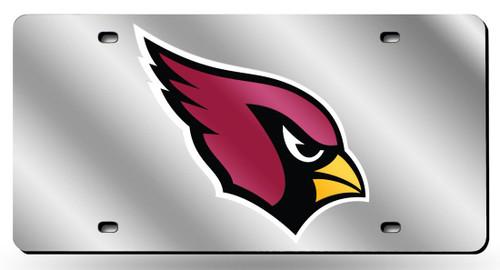 Arizona Cardinals License Plate Laser Cut Silver