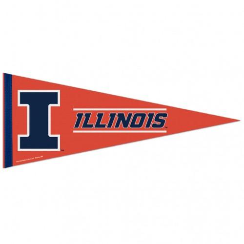 Illinois Fighting Illini Pennant 12x30 Premium Style