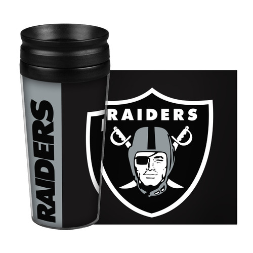 Las Vegas Raiders Travel Mug 14oz Full Wrap Style Hype Design