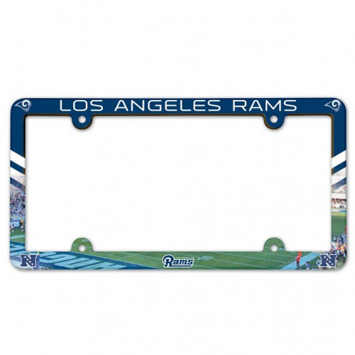 Los Angeles Rams License Plate Frame Plastic Full Color Style