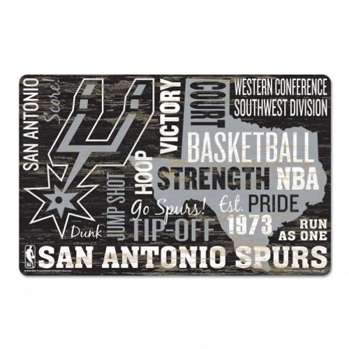 San Antonio Spurs Sign 11x17 Wood Wordage Design