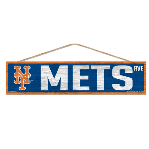 New York Mets Sign 4x17 Wood Avenue Design - Special Order