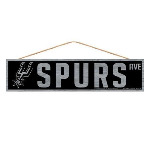 San Antonio Spurs Sign 4x17 Wood Avenue Design