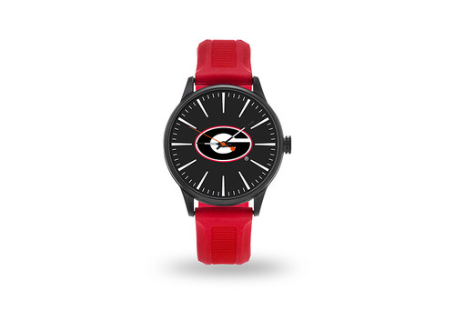 Georgia Bulldogs Watch Men's Cheer Style with Red Watch Band