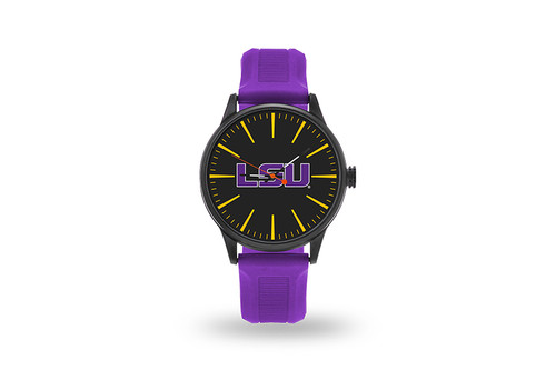 LSU Tigers Watch Men's Cheer Style with Purple Watch Band