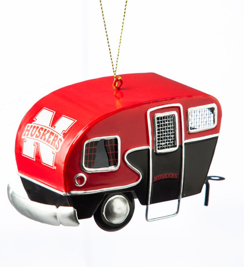 Nebraska Cornhuskers Ornament Camper Design