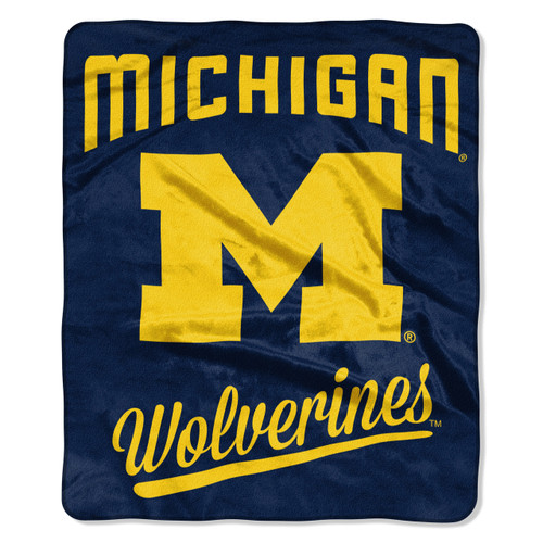 Michigan Wolverines Blanket 50x60 Raschel Alumni Design