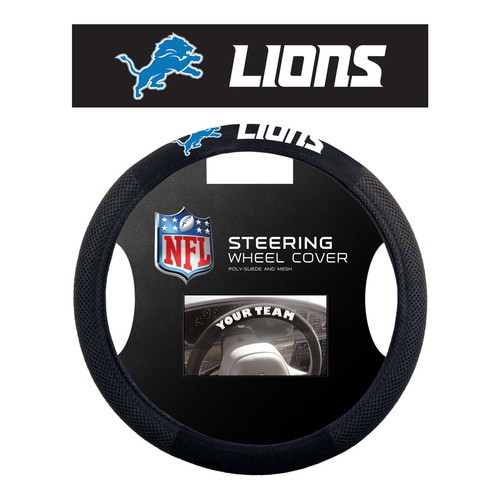 Detroit Lions Steering Wheel Cover Mesh Style CO