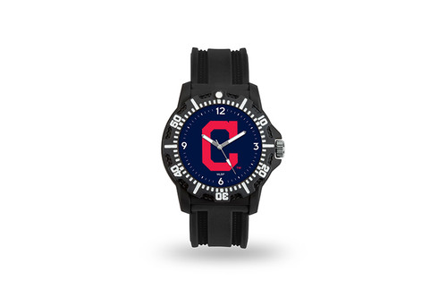 Cleveland Indians Watch Men's Model 3 Style with Black Band - Special Order