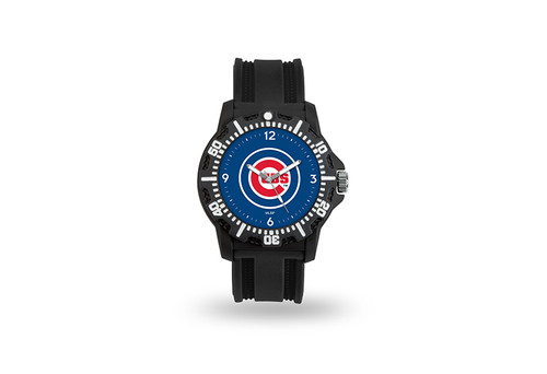 Chicago Cubs Watch Men's Model 3 Style with Black Band