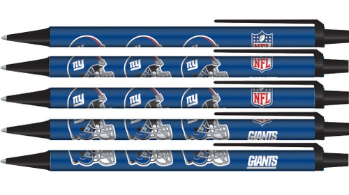 New York Giants Pens Click Style 5 Pack