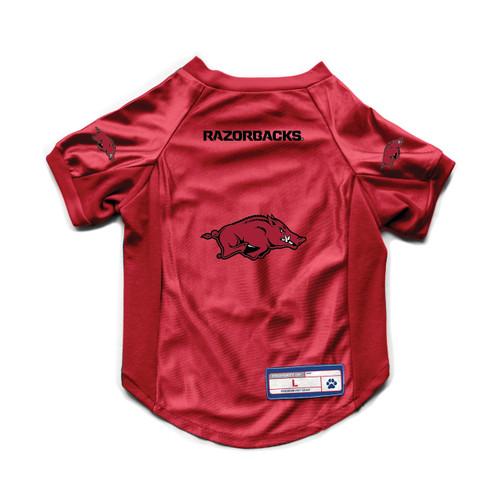 Arkansas Razorbacks Pet Jersey Stretch Size M - Special Order