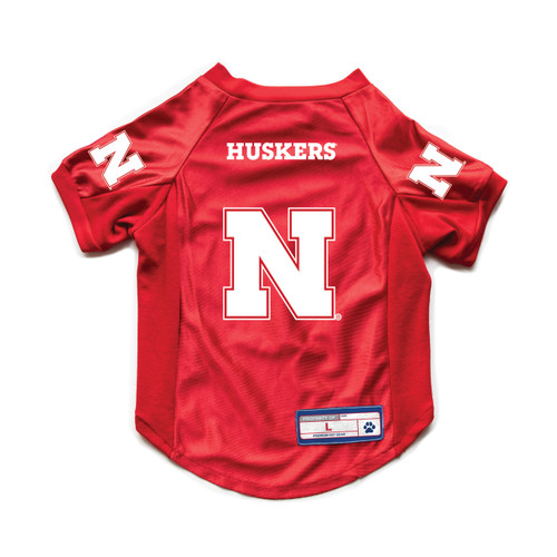 Nebraska Cornhuskers Pet Jersey Stretch Size XL