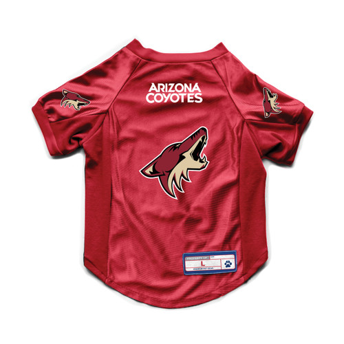 Arizona Coyotes Pet Jersey Stretch Size L Special Order