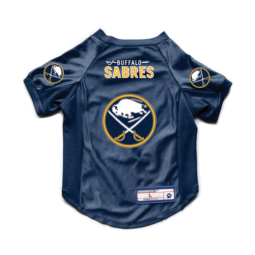 Buffalo Sabres Pet Jersey Stretch Size S - Special Order