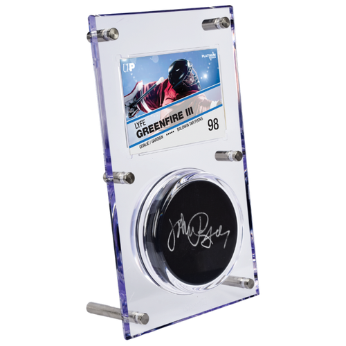 Clear Puck & Card Flip Display 35pt - Special Order