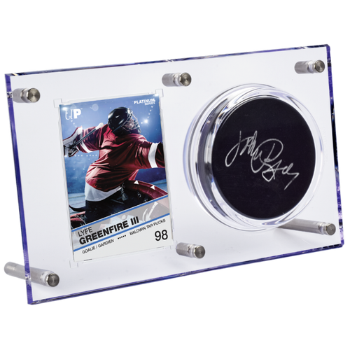 Clear Puck & Card Flip Display 120pt - Special Order