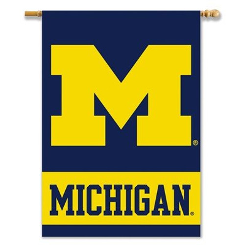 Michigan Wolverines Banner 28x Double-Sided BSI - Special Order