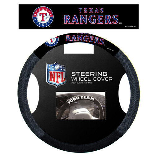 Texas Rangers Steering Wheel Cover Mesh Style CO