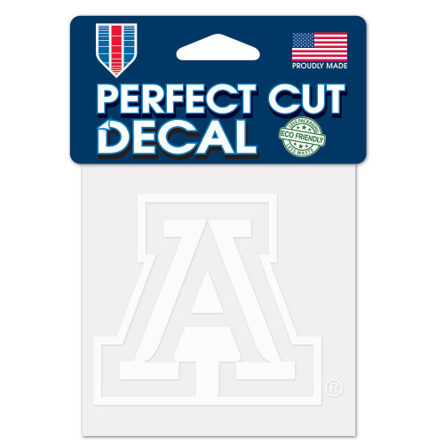 Arizona Wildcats Decal 4x4 Perfect Cut White