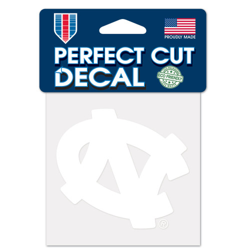 North Carolina Tar Heels Decal 4x4 Perfect Cut White