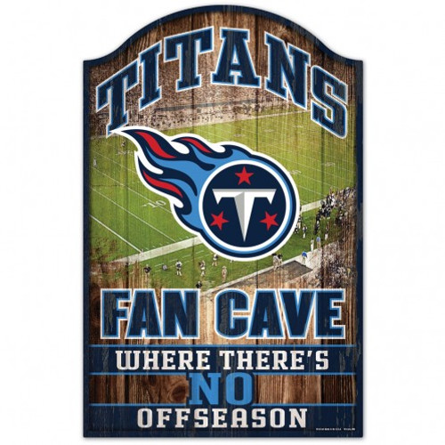 Tennessee Titans Sign 11x17 Wood Fan Cave Design