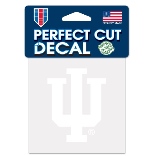 Indiana Hoosiers Decal 4x4 Perfect Cut White