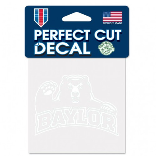 Baylor Bears Decal 4x4 Perfect Cut White - Special Order