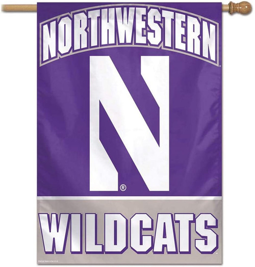 Northwestern Wildcats Banner 28x40 Vertical - Special Order