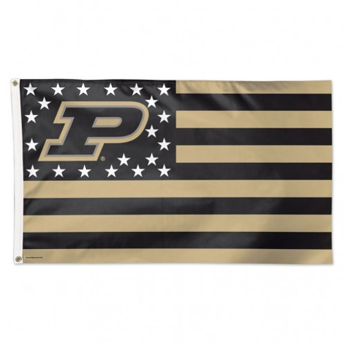 Purdue Boilermakers Flag 3x5 Deluxe Style Stars and Stripes Design - Special Order