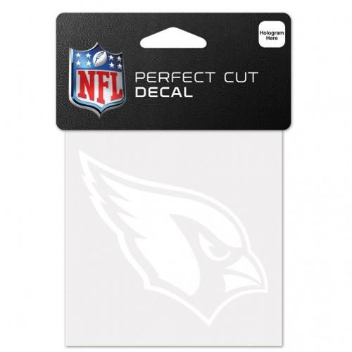 Arizona Cardinals Decal 4x4 Perfect Cut White