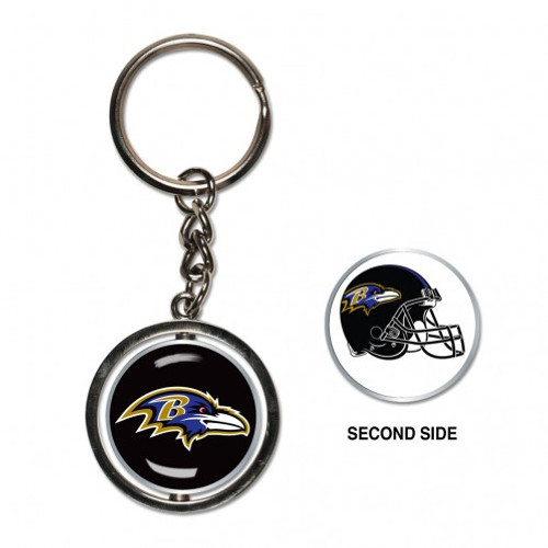 Baltimore Ravens Key Ring Spinner Style - Special Order