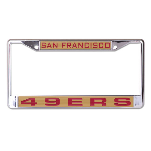 San Francisco 49ers License Plate Frame Inlaid Style - Special Order