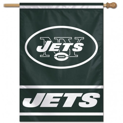 New York Jets Banner 28x40 Vertical - Special Order