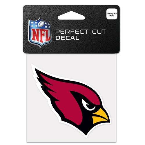 Arizona Cardinals Decal 4x4 Perfect Cut Color - Special Order