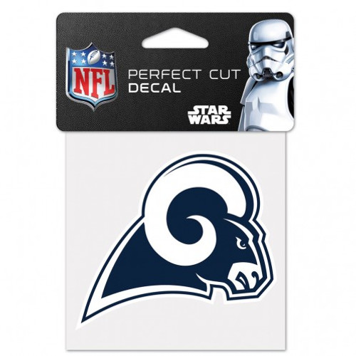 Los Angeles Rams Decal 4x4 Perfect Cut Color - Special Order