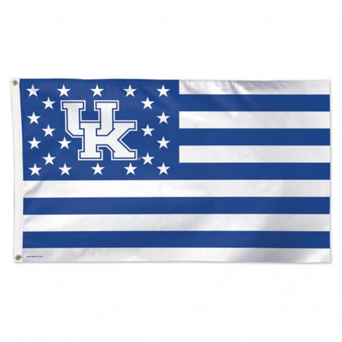 Kentucky Wildcats Flag 3x5 Deluxe Style Stars and Stripes Design